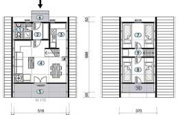 Montažne kuće Ivanjica Tip Golija 40 skica