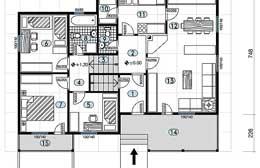 Montažne kuće Ivanjica Tip 101 skica