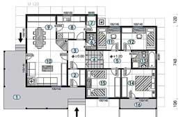 Montažne kuće Ivanjica Tip 117 skica