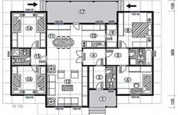 Montažne kuće Ivanjica Tip 135 skica