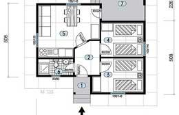 Montažne kuće Ivanjica Tip 44a skica