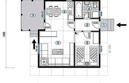 Montažne kuće Ivanjica Tip 44b skica