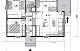 Montažne kuće Ivanjica Tip 68 skica