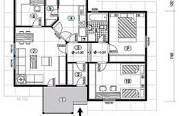 Montažne kuće Ivanjica Tip 81 skica