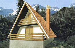 Montažne kuće Ivanjica Tip Golija 40