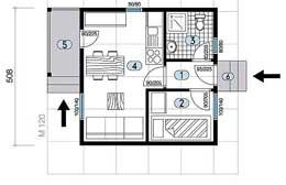 Montažne kuće Ivanjica Tip 27 skica