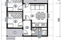 Montažne kuće Ivanjica Tip 35 skica