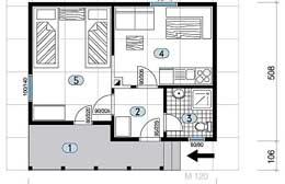 Montažne kuće Ivanjica Tip 36 skica