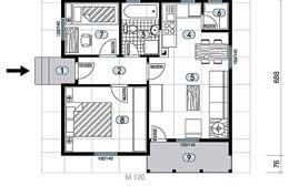 Montažne kuće Ivanjica Tip 52 skica