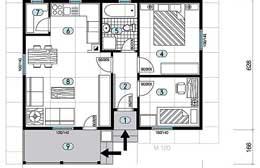 Montažne kuće Ivanjica Tip 57 skica