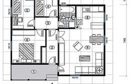 Montažne kuće Ivanjica Tip 77 skica